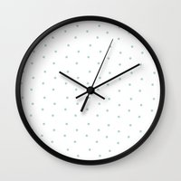 polka Wall Clocks featuring Polka! Polka!  by Melody Joy Designs