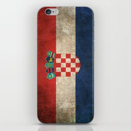 Old and Worn Distressed Vintage Flag of Croatia iPhone Skin