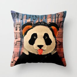 2 A.M. Sunshine Panda Throw Pillow