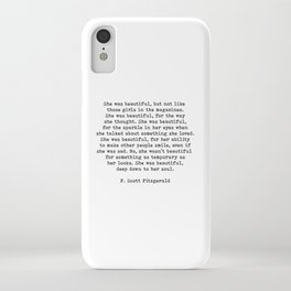 She Was Beautiful, F. Scott Fitzgerald, Quote iPhone Case