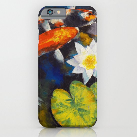 Koi Fish and Water Lily iPhone & iPod Case