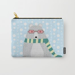 Bear in snow Carry-All Pouch