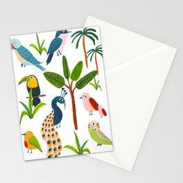 Jungle Birds Species Stationery Cards
