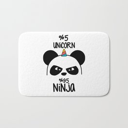5% Unicorn 95% Ninja Bath Mat