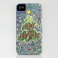 Merry Christmas iPhone (4, 4s) Slim Case