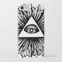 all seeing eye iPhone & iPod Cases featuring All seeing camera eye by dsimpson