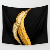 banana Wall Tapestries featuring Banana by Ken Coleman