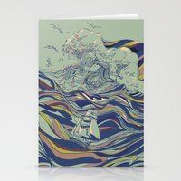 huebucket Stationery Cards featuring OCEAN AND LOVE by Huebucket