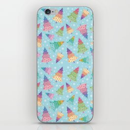 Colorful Christmas Trees iPhone Skin