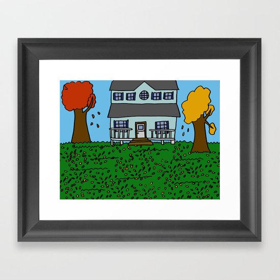 Autumn House Framed Art Print