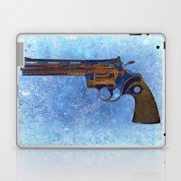 Colt Python 357 Magnum on Blue Back Ground Laptop & iPad Skin