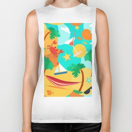 Summer Swin Fun Biker Tank