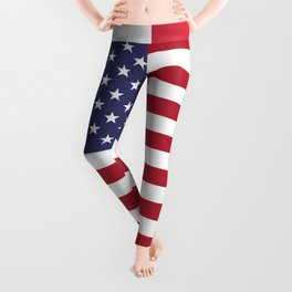 4th of July Happy Independence Day Patriotic American flag & stars Leggings