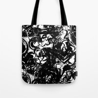 war Tote Bags featuring war by BUBUBABA