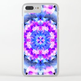Fractured Light Mandala Clear iPhone Case