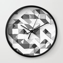 Triangular Deconstructionism Light Mono Wall Clock