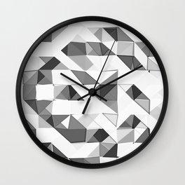 Triangular Deconstructionism Light Mono Wall Clock