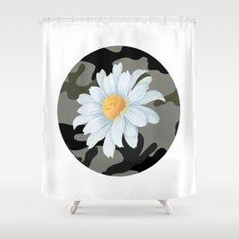 CamoDaisy Shower Curtain
