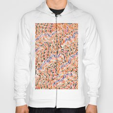 red topography Hoody