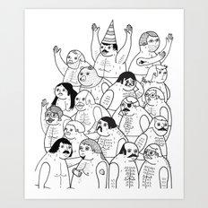 Sauna Club Art Print
