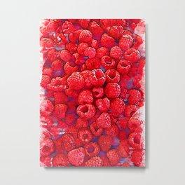 Fresh Red Raspberries - For Fruit Lovers Metal Print
