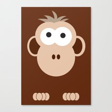 Minimal Monkey Canvas Print