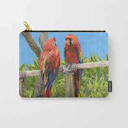 Scarlet Macaw Parrots Perching Carry-All Pouch