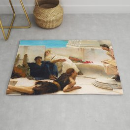 Lawrence Alma-Tadema - A Reading From Homer1 - Digital Remastered Edition Rug