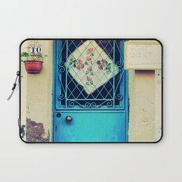 vintage door in cunda island Laptop Sleeve