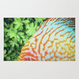 Stained Glass Fish Rug