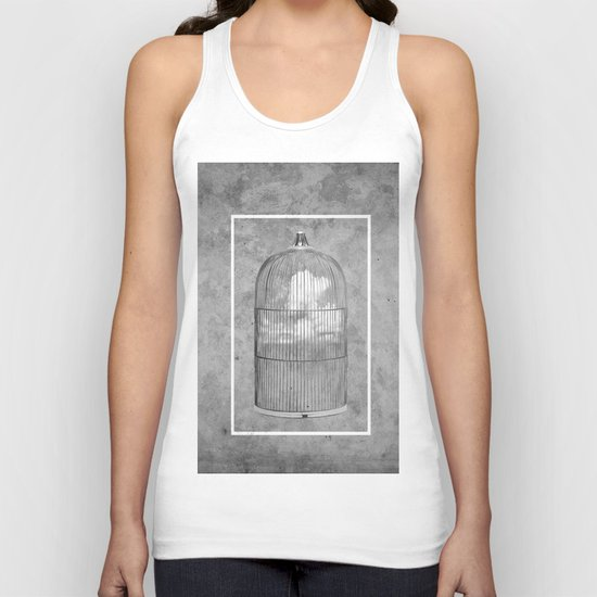 Cloud Cage Unisex Tank Top