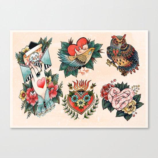 Tattoos of Love Canvas Print