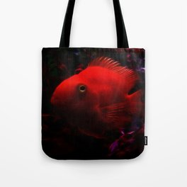Red Electro Fish Tote Bag