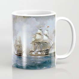 Brig Mercury Attacked by Two Turkish Ships Coffee Mug
