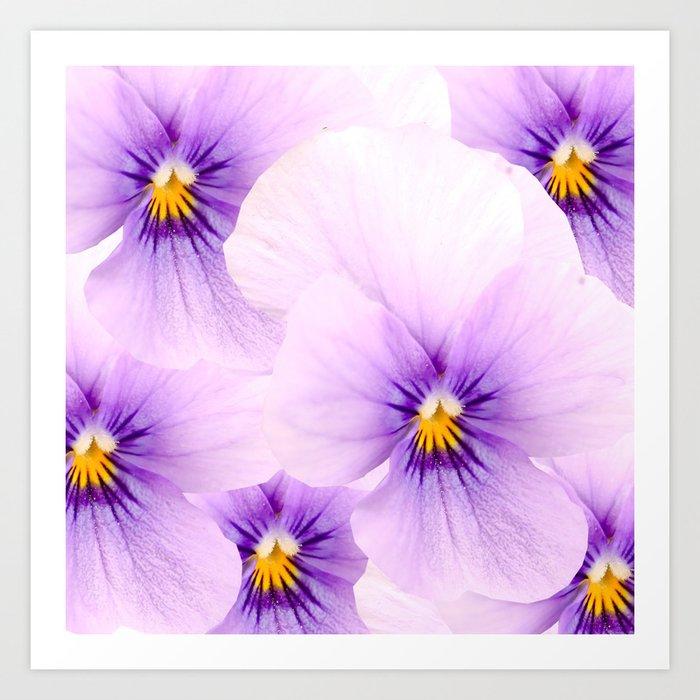 Pansy Flower Bouquet #decor #buyart #society6 Art Print