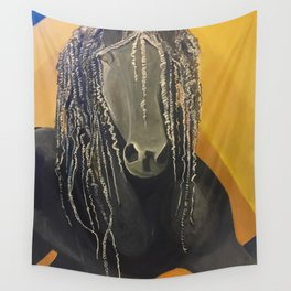 Yellow Horse Wall Tapestry