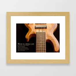 Music is a Moral Law Framed Art Print