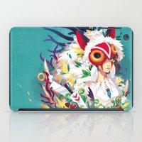 princess mononoke iPad Cases featuring Princess Mononoke by Stephanie Kao