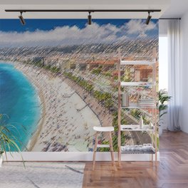 The French Riviera Landscape Painting by Jeanpaul Ferro Wall Mural