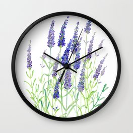 Watercolor Lavender Bouquet Wall Clock