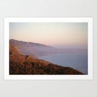 big sur Art Prints featuring Big Sur by Kelly Sparks