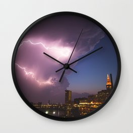 Storm Approaches Cleveland Wall Clock