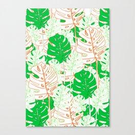 Banana Leaf in Coral Canvas Print