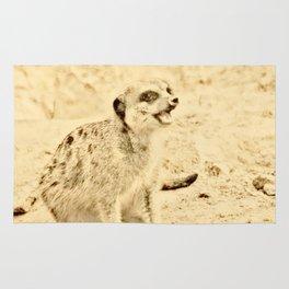 Vintage Animals - Meerkat Rug