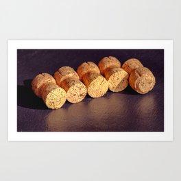An amateur cork collection Art Print