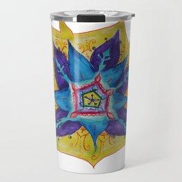 Star Mandala Hand Painet Energy Travel Mug