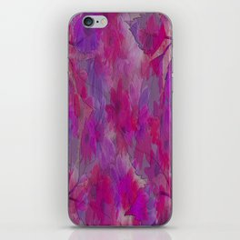 Painterly Evening Floral Abstract iPhone Skin