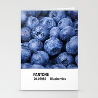 pantone Stationery Cards featuring PANTONE - Blueberries by Et Voilà