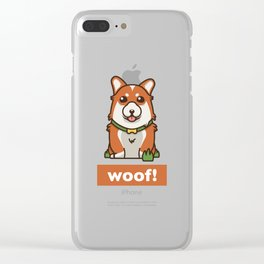 Cute Pembroke Cardigan Welsh Corgi Pet Dog Lover Clear iPhone Case