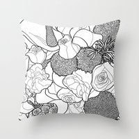 tapestry Throw Pillows featuring Tapestry by Madame Mim